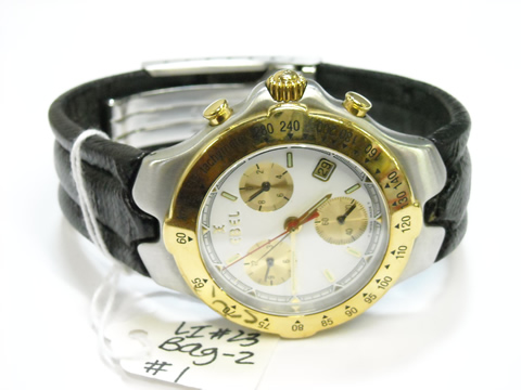f185b1cdb Lot 27, IR2010650050000101-055-0000, Watch: Gevril, Yellow Gold,  Rectangular Off White Textured Dial, Gold Numeral Markers, 2 Sub-Dials,  Embossed